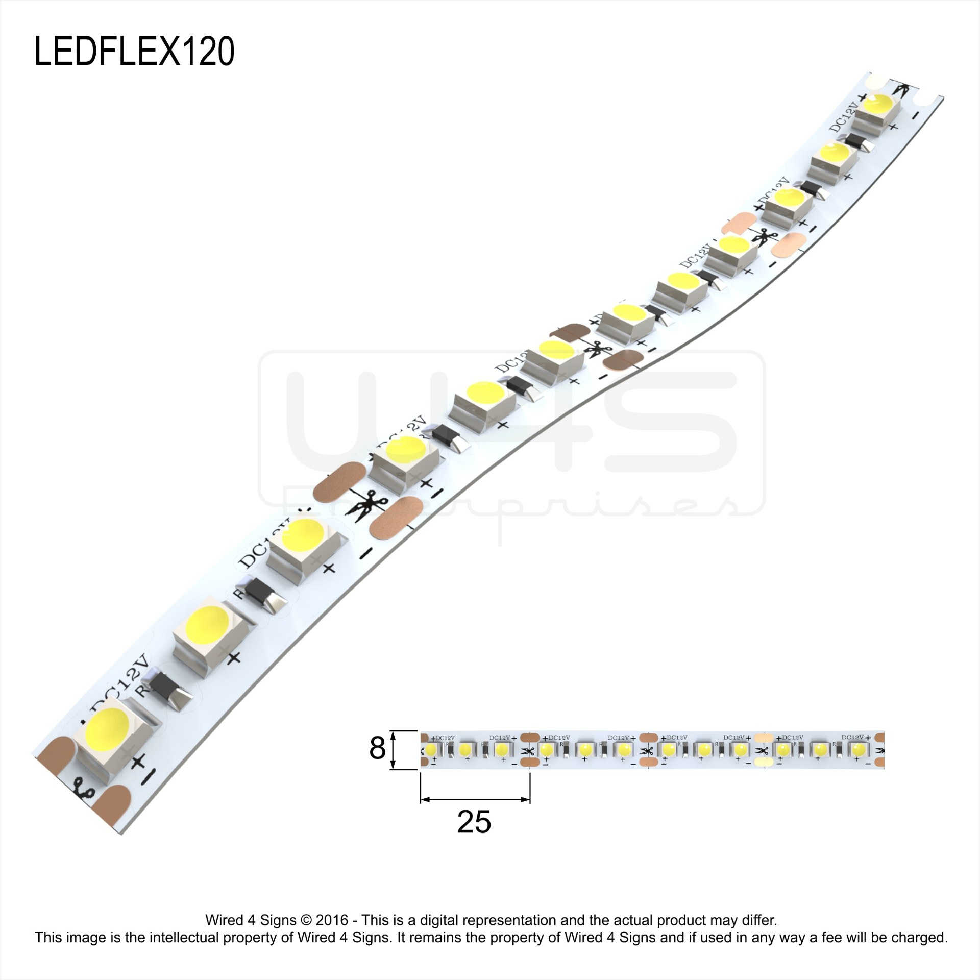 Led flex strip wired4signs led flexible strip lighting aloadofball Image collections