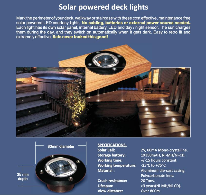 Solar deck lights Port Elizabeth